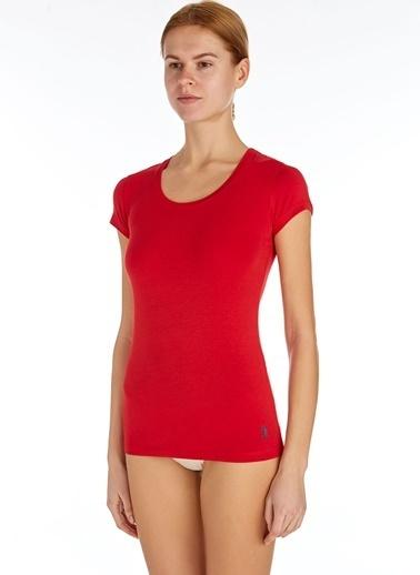 U.S. Polo Assn. Derin Yuvarlak Yaka T-Shirt Kırmızı